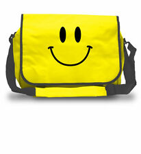 Smiley Face Messenger Bag - Acid Rave DJ HTID Laptop College School Bag