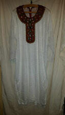 VINTAGE RETRO ? LOVELY WHITE ASIAN WEDDING ? DRESS WITH JEWELS/SEQUINS/BEADS 46