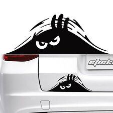 2 Black Peeking Monster Funny Cute Sticker Vinyl Waterproof Decal For Car Window