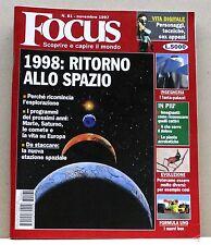 FOCUS [N. 61 - novembre 1997] (possibilità di spedizione a 2,00 euro)