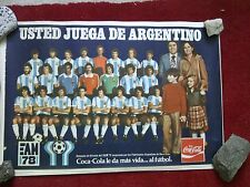 POSTER ARGENTINA 78 MONDIALI WORLD CUP CALCIO FOOTBALL COPPA DEL MONDO COCACOLA