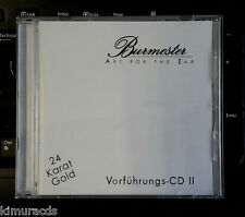Burmester Vorfuhrungs CD II, Gold Disc, Audiophile Must Have, HDCD, Sale as is.
