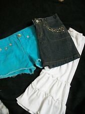 KIDS CLOTHES LOT JUSTICE SHORTS CHILDRENS PLACE JEAN SKIRT GOUCHO PANTS SIZE 6 7