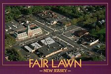 Fair Lawn, New Jersey, Aerial View F L Avenue + Plaza Road, Bergen Co - Postcard