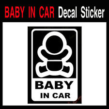 BABY IN CAR Decal Sticker White Color 150*190(mm) 1PCS Cutting Sticker