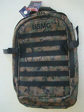 USMC US MARINE CORPS WOODLAND MARPAT CAMO CAMOUFLAGE WATERPROOF MOLLE BACK PACK+
