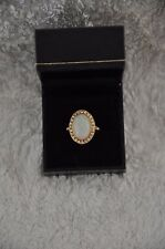 Ladies Opal and Diamond Welsh Gold Dress Ring