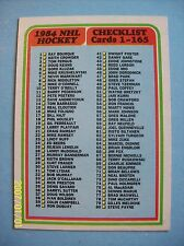 1984-85 Topps # 165 Unmarked NHL Hockey Checklist Vintage Card!  N/MT or Better!