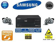 Samsung CCTV Package/Kit 1x 4CH Network NVR 2x IP Cameras Full HD CCTV System