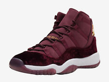 Nike air jordan retro xi 11 velours rouge héritière maroon nuit gs exclusive