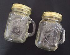 Vtge Mason Jar Mugs Golden Harvest Salt and Pepper Shakers with Metal Lids