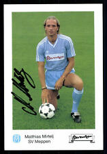 Matthias Mirtelj Autogrammmkarte SV Meppen Original Sign+A 94190