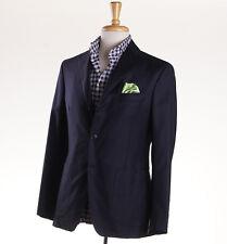 NWT $2195 BELVEST Solid Navy Blue Year-Round Wool Blazer 38 R Sport Coat (Eu 48)