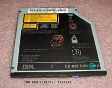 IBM Thinkpad T40 T41 T42 T43 Series CD-RW/DVD-ROM Combo Drive 13N6770 13N6771