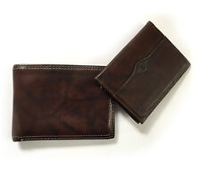 Men's Dockers Bifold Wallet w Fold Up Id and Money Slot Brown Full Grain Leather