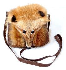 Pelztasche Rotfuchs Handtasche kleine Abendtasche Schultertasche red fox fur bag