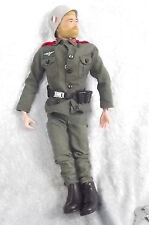 2nd Issue Action Man German Stormtrooper Uniform & Circa 1971 Fuzzy Haired