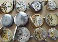 Pocket watches, Cyma, Favre Leuba, Venner, Revue GT, Pinnacle, Neva, all for