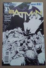 BATMAN 1 NEW 52 BLACK AND WHITE SKETCH VARIANT CAPULLO SNYDER RARE RATIO 1:200