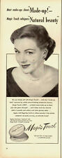 1951 Vintage ad for Magic Touch Cream Make-up~50's hair~fashion (112813)