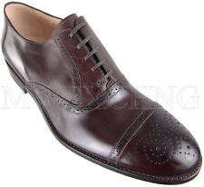 CALZOLERIA ZENOBI GOODYEAR WELT BROGUE OXFORDS EU 45 ITALIAN DESIGNER MENS SHOES