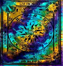 Tie Dye Zodiac Horoscope Tapestry 53 x 86 Wall Hanging Wiccan Pagan Altar ICT021