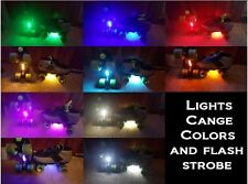 Color Changing LED Strip Skate Lights w/Switch  Multi Longboards, Inline, Bike
