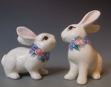 Fitz and Floyd Bunny Rabbit Salt and Pepper Shakers