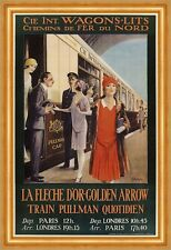 Internationale Wagons Lits Train Pulman Quotidien Paris London Plakate A3 270