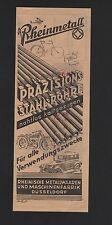 DÜSSELDORF, Werbung 1929, Rheinische Metallwaren-Maschinen-Fabrik Stahl-Rohre