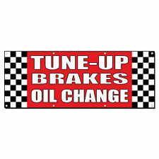 TUNE-UP/BRAKES/OIL CHANGE Auto Body Shop Car Banner Sign 2' x 4' /w 4 Grommets