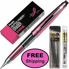 Pentel Sharp Kerry Mechanical Pencil, P1035P Pink Barrel, 0.5mm, 4-Piece Set