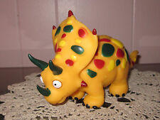 Triceratops Yellow/Gold Dinosaur Action Figure