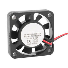 40mm x 10mm 0.12A 2Pin 5V DC Brushless Sleeve Bearing Cooling Fan BT