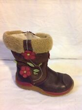Girls Clarks Brown Leather Boots Size 5.5F