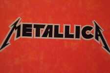 "2 METALLICA 4.5"" DECALS  MUSIC GUITAR ROCK BAND MOTORBIKE HELMET STICKERS CD"