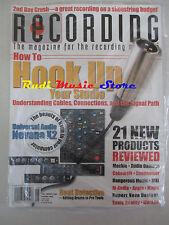 RECORDING Magazine SEALED Giu 2008 Hook Up Your Studio Sonic Reality Apple No cd