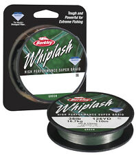 Berkley WHIPLASH 0,25 mm 80 LB 250 mt trecciato NEW traina spinning pesca mare