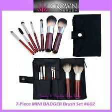 NEW Crown Brush 7-Piece MINI BADGER Travel Brush Set w/Case FREE SHIPPING 602