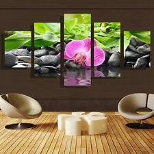 HD 5Pcs Orchid Flower Modern Art Canvas Painting Print Picture Home Wall Decor