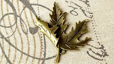 Maple leaf bronze charm vintage style jewellery supplies
