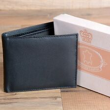 Mens Genuine Leather Wallet Bifold Gift For Him