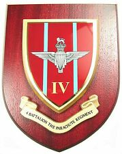 4 PARA 4TH BTN PARACHUTE REGIMENT HAND MADE IN UK REGIMENT MESS PLAQUE