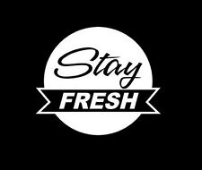 STAY FRESH JDM EURO CLEAN LOWERED STANCED ILLEST WINDOW STICKER VINYL DECAL #149