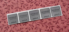 Lot of 5 AMD Radeon Graphics Silver Chrome Stickers 17.5 x 17.5mm Case Badges