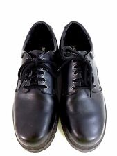SKECHERS MENS BLACK LEATHER RUGGED LACE UP WORK HIKING OXFORDS TRACTION SIZ
