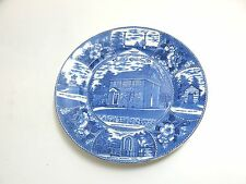 ANTIQUE / VINTAGE JONROTH ENGLAND BLUE TRANSFERWARE OF VALLEY FORGE PA 9""