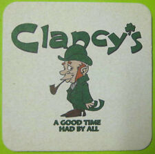 CLANCY'S, A GOOD TIME HAD BY ALL Beer COASTER, Mat, BUDWEISER, MISSOURI, IRISH
