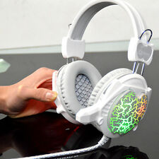 Surround Stereo Gaming Headset Headband Headphone USB 3.5mm LED with Mic for PC