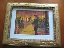 Beauty & The Beast Tale As Old As Time Detailed Gold Framed Lithograph Picture
